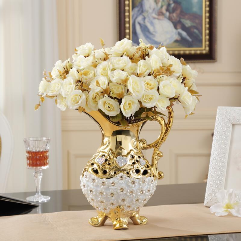 Bình bông Đồ trang trí hoa trang trí chạm rỗng không nấu món quà sáng tạo TV bình gốm tủ trong phòng