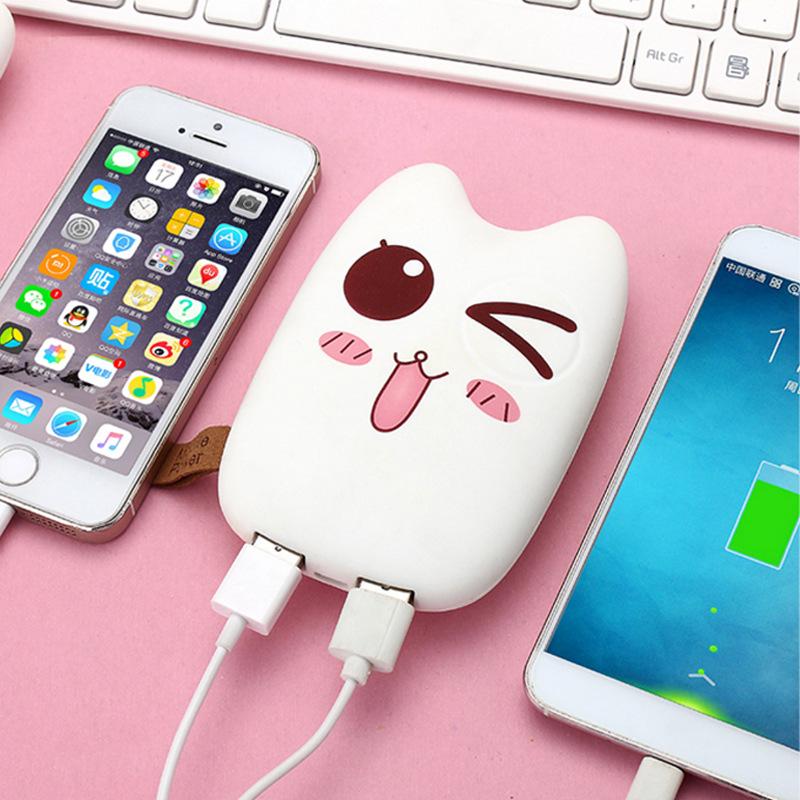 ZHONGXING Pin sạc dự bị Bán buôn Creative Mini Menglong Cat Điện thoại di động Biểu cảm dễ thương Ca