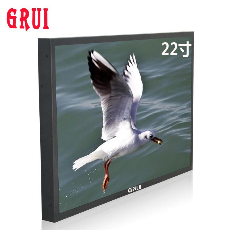 Guorui Thiết bị giám sát 22 inch HD Màn hình LCD giám sát an ninh màn hình TV tủ tường màn hình 21,5