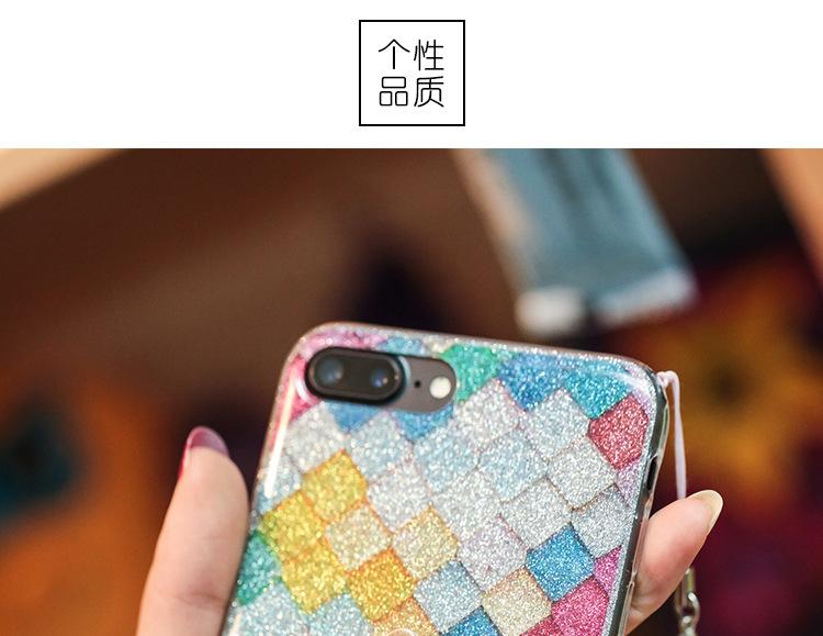 iphone   Thị trường phụ kiện di động  Vẩy cá lưới khung vỏ bột SEM táo 7 chiếc điện thoại di động áp