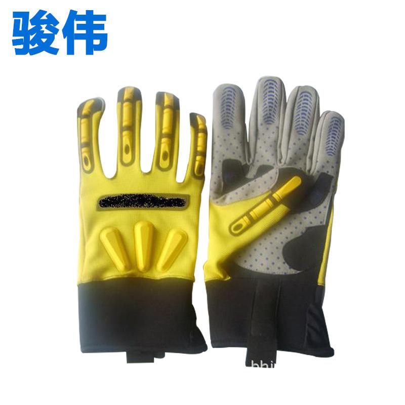JUNWEI Găng tay bảo hộ Găng tay cơ khí xuyên biên giới công cụ bảo vệ găng tay dầu khí bảo hiểm lao