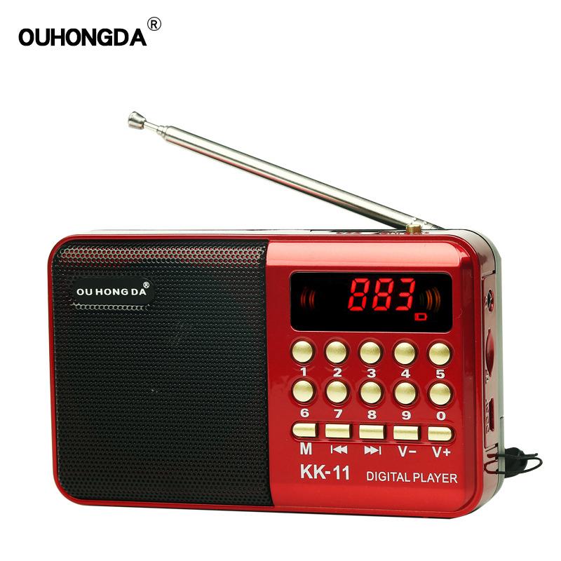 OUHONGDA Máy Radio Mô hình vụ nổ ngoại thương K11 cũ mini radio MP3 thẻ cũ thẻ đa chức năng máy ghi