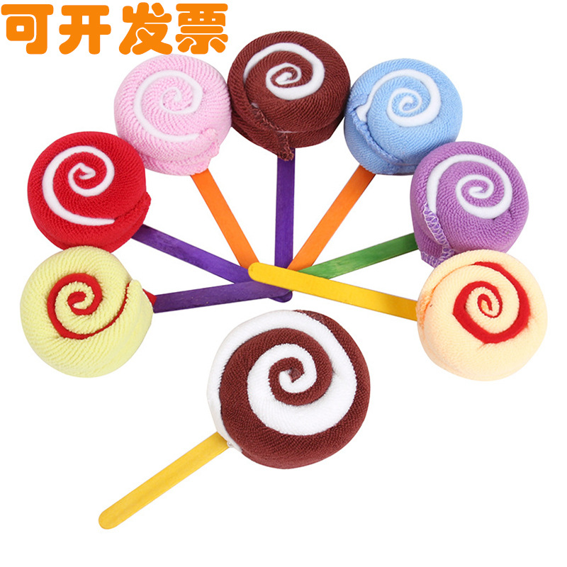 MENGXIU Khăn bánh kem Bánh kem kẹo mút quà tặng sáng tạo mẫu giáo trẻ em quà tặng ngày cưới hoạt độn