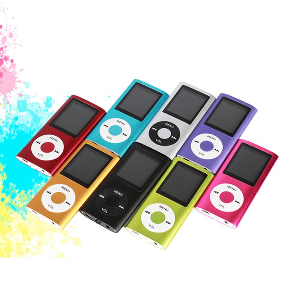 DUOLAIMI Máy ghi âm Bút kim loại 4 thế hệ MP3 Máy ghi âm Walkman 1.8TFT nhạc không mất nhạc Các nhà