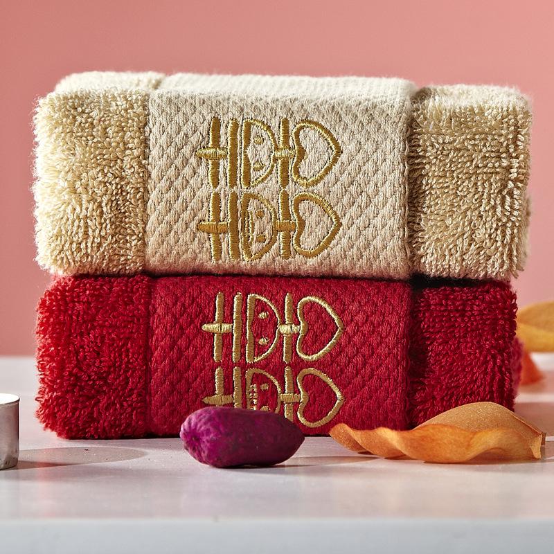 SHUANGXI Khăn đám cưới Đôi nhà hạnh phúc dệt khăn cưới nhà sản xuất khăn đỏ hi từ quà tặng đám cưới