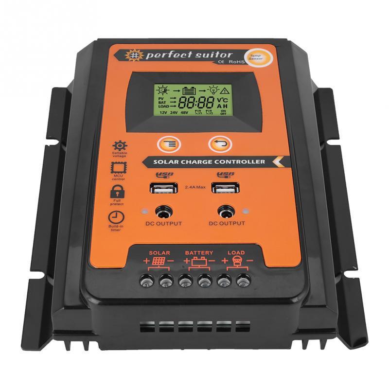 BYGD Mạch bo Bộ điều khiển sạc và xả bảng điều khiển năng lượng mặt trời 30A50A70A12V24V
