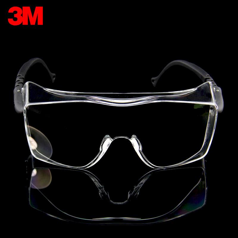 3M Kính bảo hộ 12308 Phong cách Trung Quốc đóng khung kính chống sương mù kính bảo hộ kính 20 gọng /