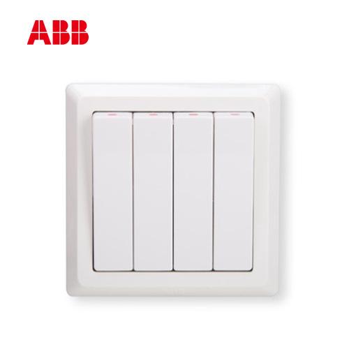 Ổ cắm công tắc ABB Deyi loạt bốn công tắc điều khiển đơn AE104; 10072371