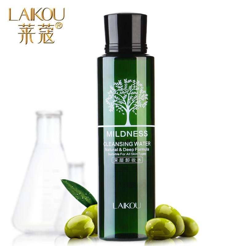 LAIKOU Tẩy trang Nước tẩy trang ô liu Laiwu nhẹ và không gây kích ứng. Làm sạch da mặt và môi.
