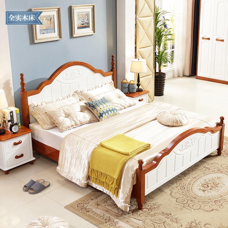 Nội Thất phòng Ngủ : Giường ngủ Đôi bằng gỗ Rắn 1,5 m gỗ rắn 1,8 m