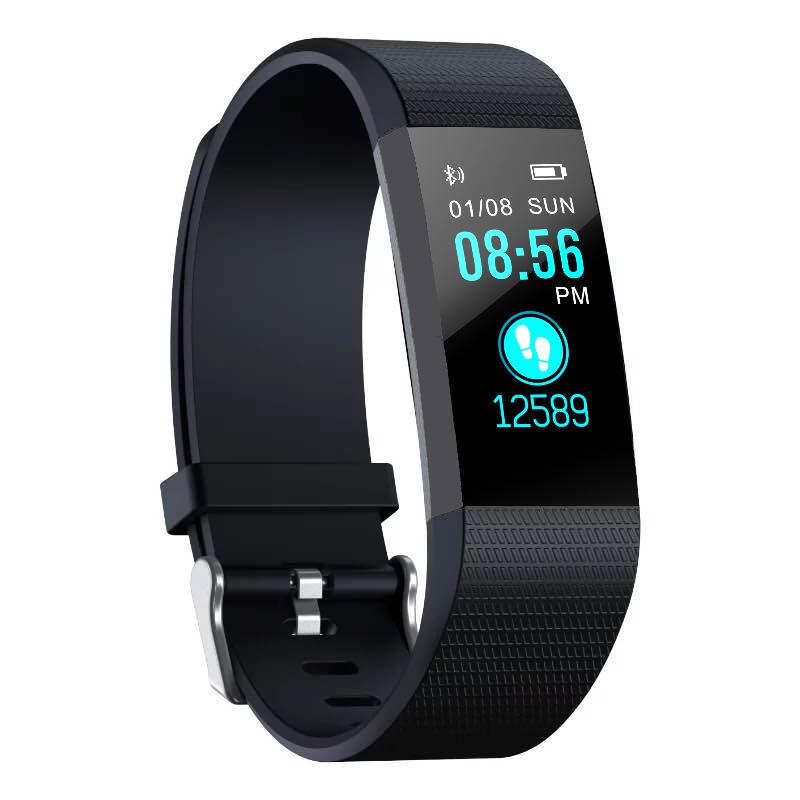 BINGE Vòng đeo tay thông minh 115plus màu màn hình vòng đeo tay thể thao ghi lại nhịp tim huyết áp g