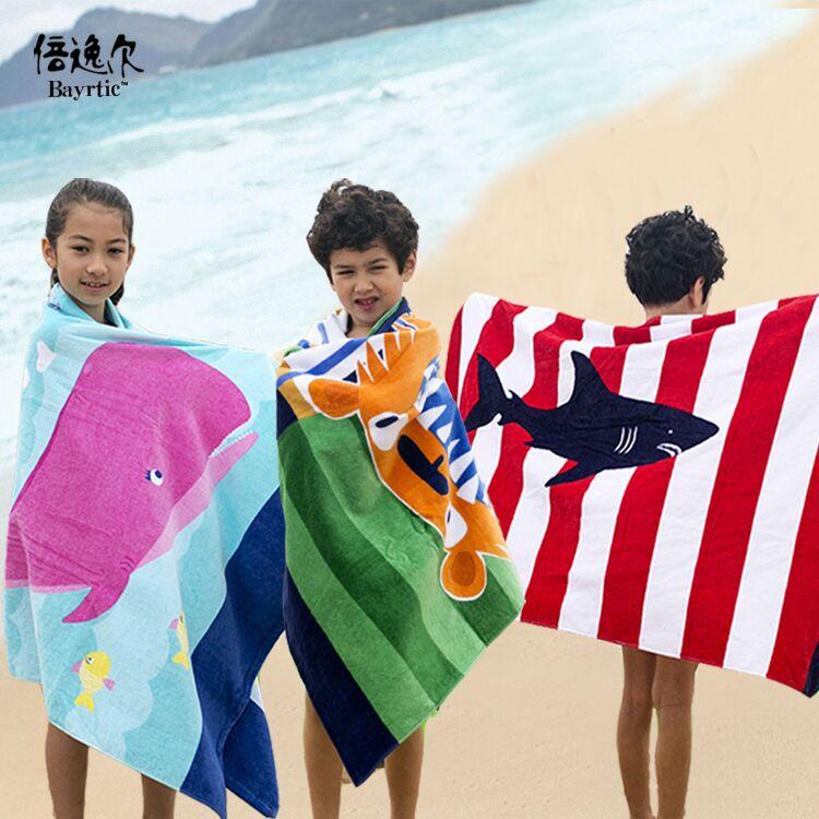 BEIYIER Khăn bãi cát Tăng khăn tắm dày Châu Âu và trẻ em người lớn không có formaldehyd phổ biến cắt