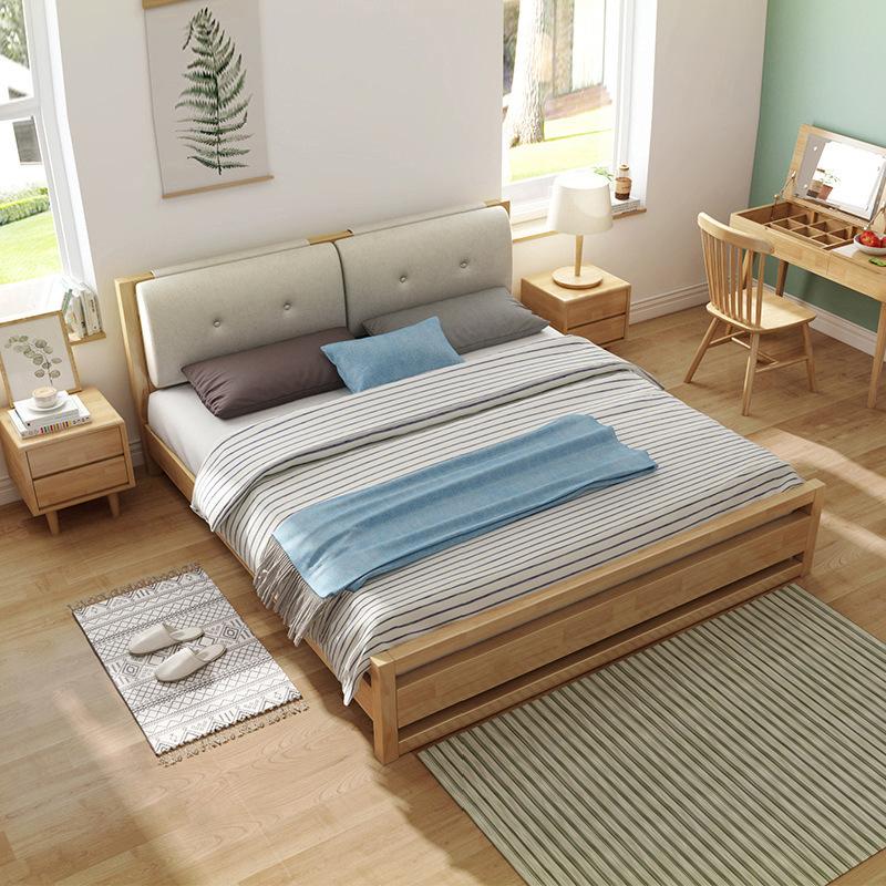 Nội Thất phòng ngủ : Giường Ngủ Bằng gỗ rắn cỡ 1,5m -1,8 m .