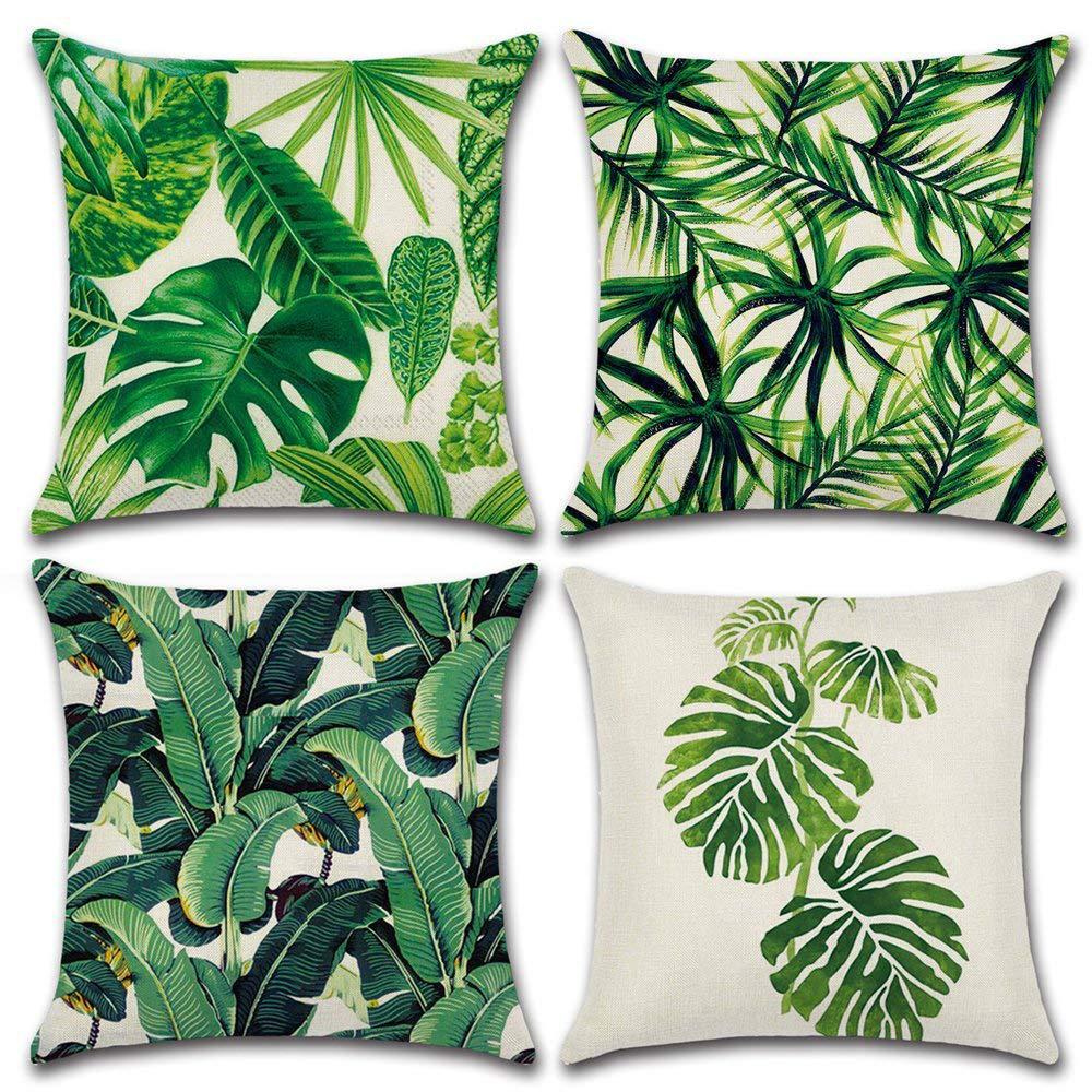 Gối Đệm Sofa sáng tạo với Kiểu dáng in hình cây vườn, lá cây .