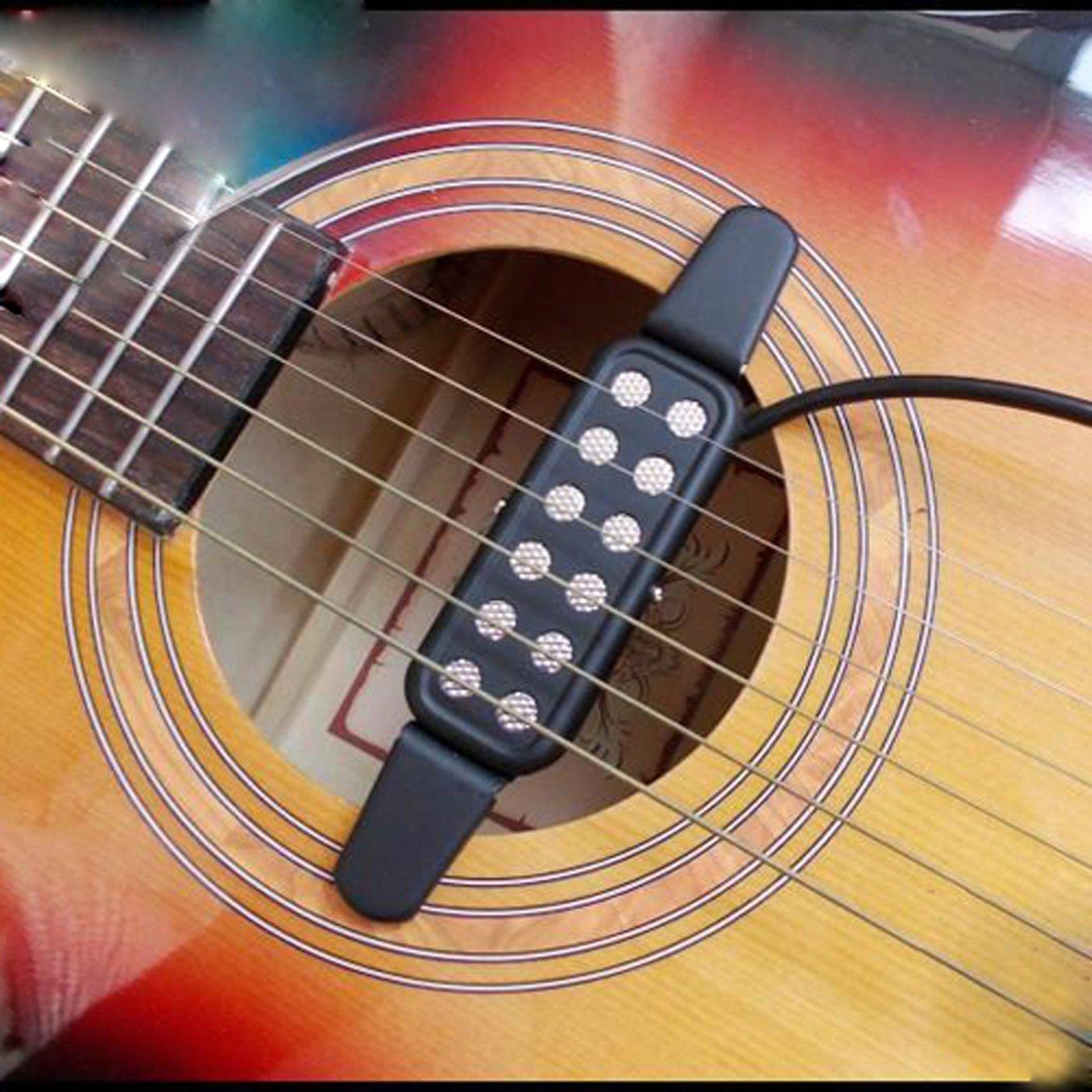 SSJY Thiết bị loa Moniter Âm thanh lỗ thu nhạc cụ phụ kiện lưỡi lê acoustic guitar đón âm thanh guit