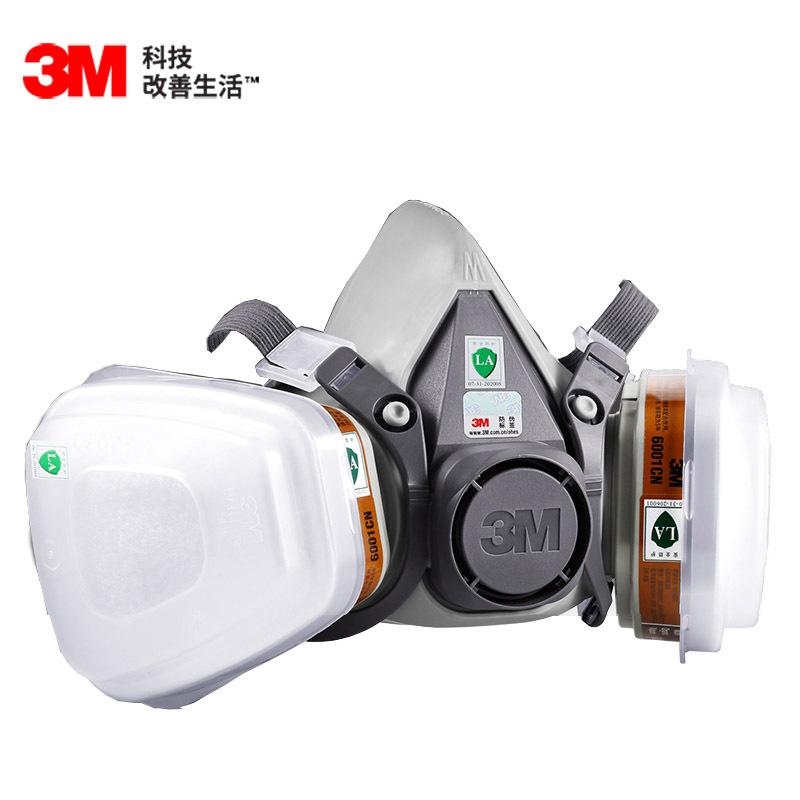 3M Mặt nạ phòng chống khí độc Mặt nạ chống vi-rút 3M 6200 mặt nạ chống vi-rút mặt nạ khí, bụi, forma