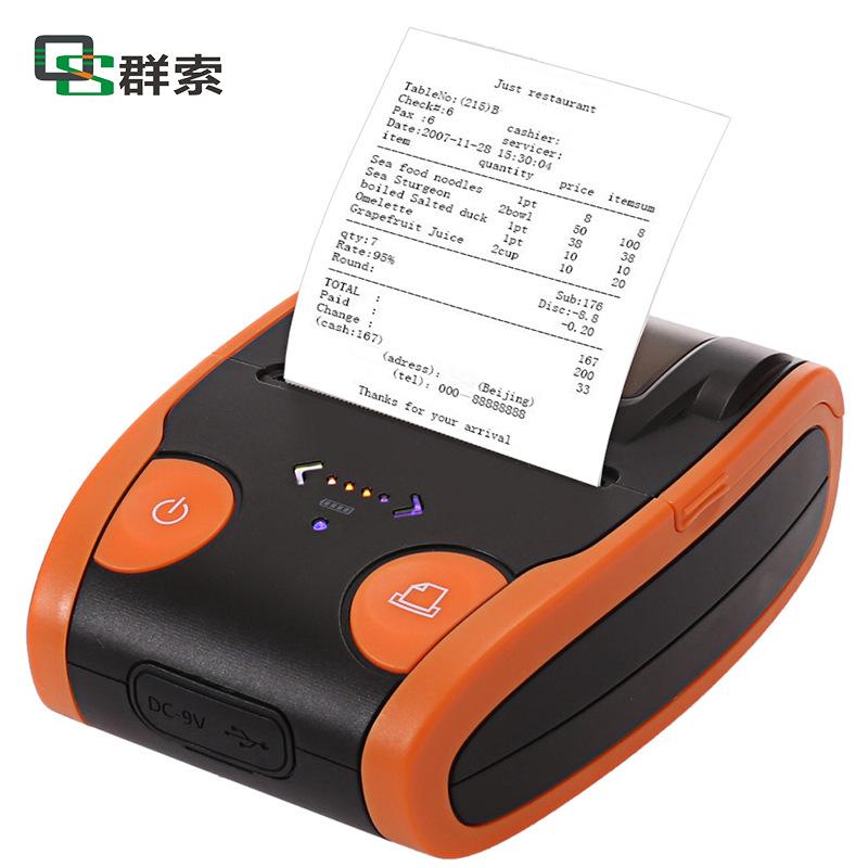QUNSUO Máy in Bluetooth di động nhãn nhiệt máy in takeaway thu ngân , bán vé