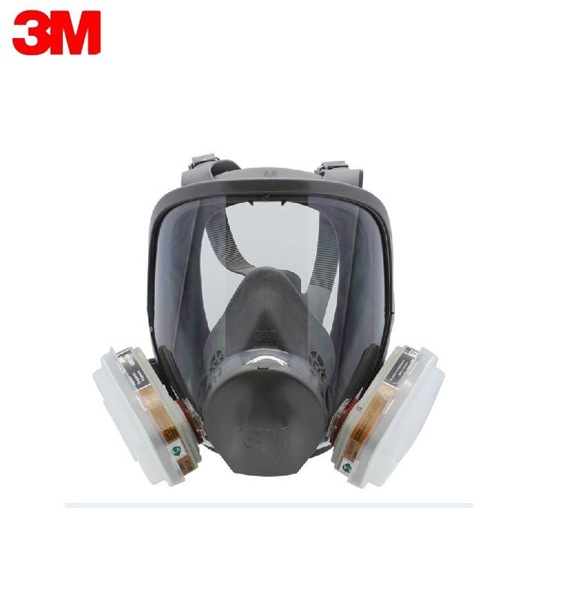 3M Mặt nạ phòng chống khí độc 6800 + 6001 chống vi-rút toàn diện / sơn chống sơn / mặt nạ bảo vệ chố