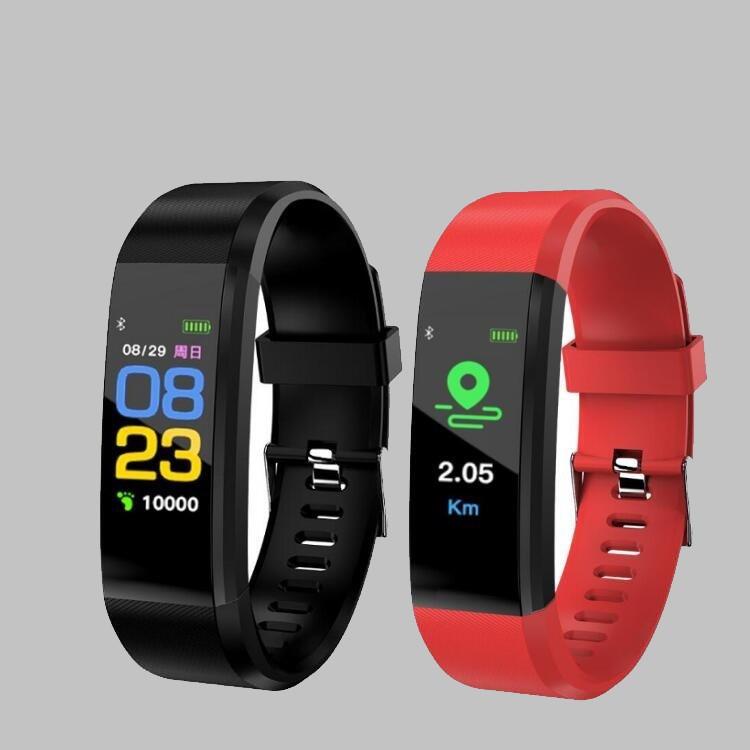 FANSHU Vòng đeo tay thông minh 2018 bán chạy xuyên biên giới ID115 màu vòng tay thông minh nhịp tim