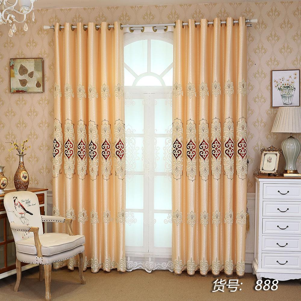 Thị trường trang trí nội thất Đặc biệt cung cấp chính xác cao rèm thêu vải Châu Âu nhà máy vải rèm t