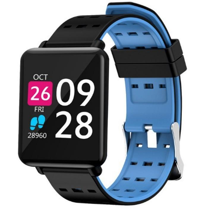 Vòng đeo tay thông minh J10 mới Màn hình màu 1,44 inch IP67 chống thấm nhịp tim huyết áp theo dõi ox
