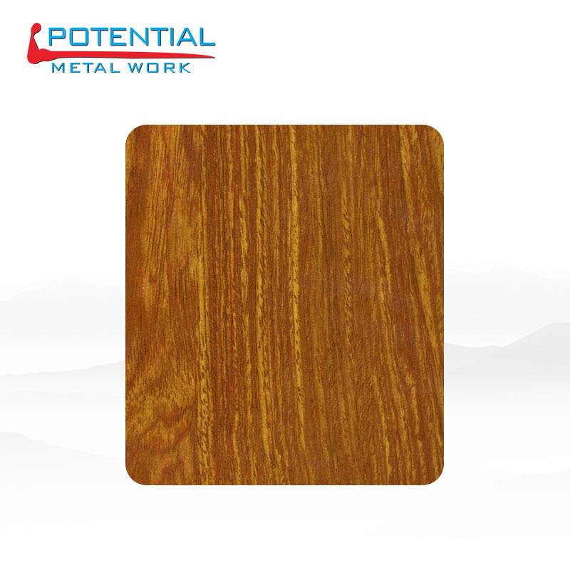 XINQIANLI Ván gỗ Nhà sản xuất thép không gỉ trang trí bảng màu gỗ trang trí bảng gỗ sồi 304 gỗ hạt x