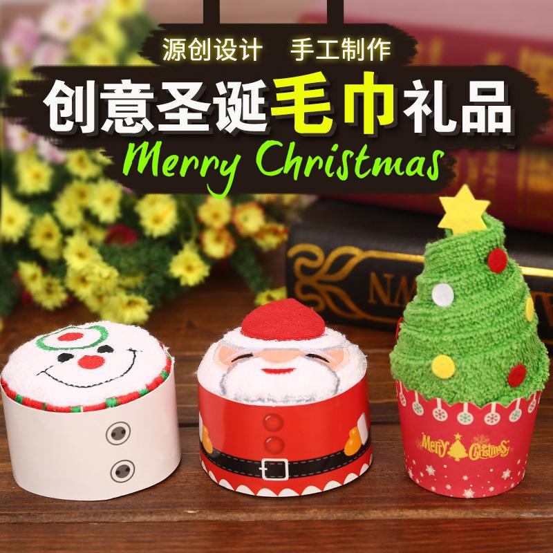 XINSAHNG Khăn bánh kem Giáng sinh Phong cách Bánh quà tặng sáng tạo Khăn thiếu nhi Lễ hội Trung tâm