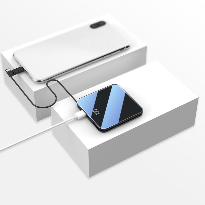 LVSHA Pin sạc dự bị Hiển thị kỹ thuật số mini kho báu sạc không dây đi kèm với dòng điện thoại di độ