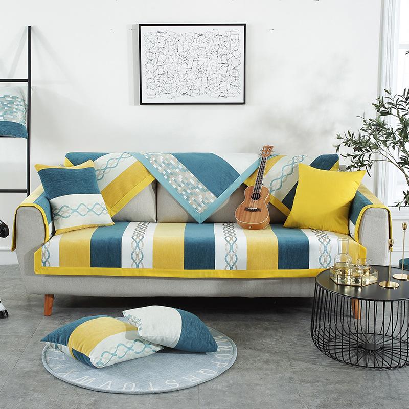 GUANGRUI Đệm lót SoFa Bốn mùa phổ quát đệm sofa Mỹ vải đơn giản hiện đại chống trượt đệm da sofa bìa