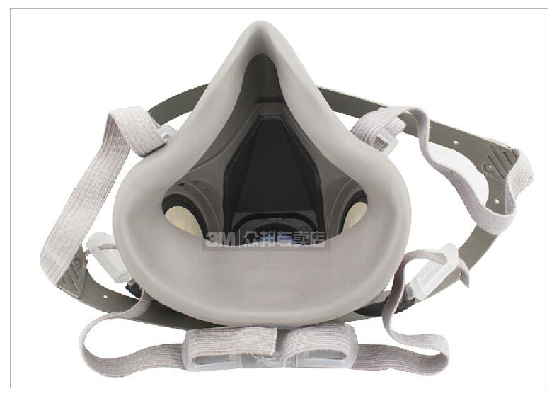 3M Mặt nạ phòng chống khí độc Mặt nạ phòng độc khí 3M 6200 phun bụi thích hợp cho mặt nạ bảo vệ mặt