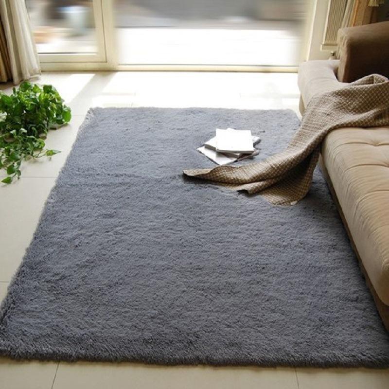 thảm lót Bán buôn dày sợi tơ rửa phòng khách phòng ngủ đầu giường thảm thảm vào cửa thảm dài tóc ngắ