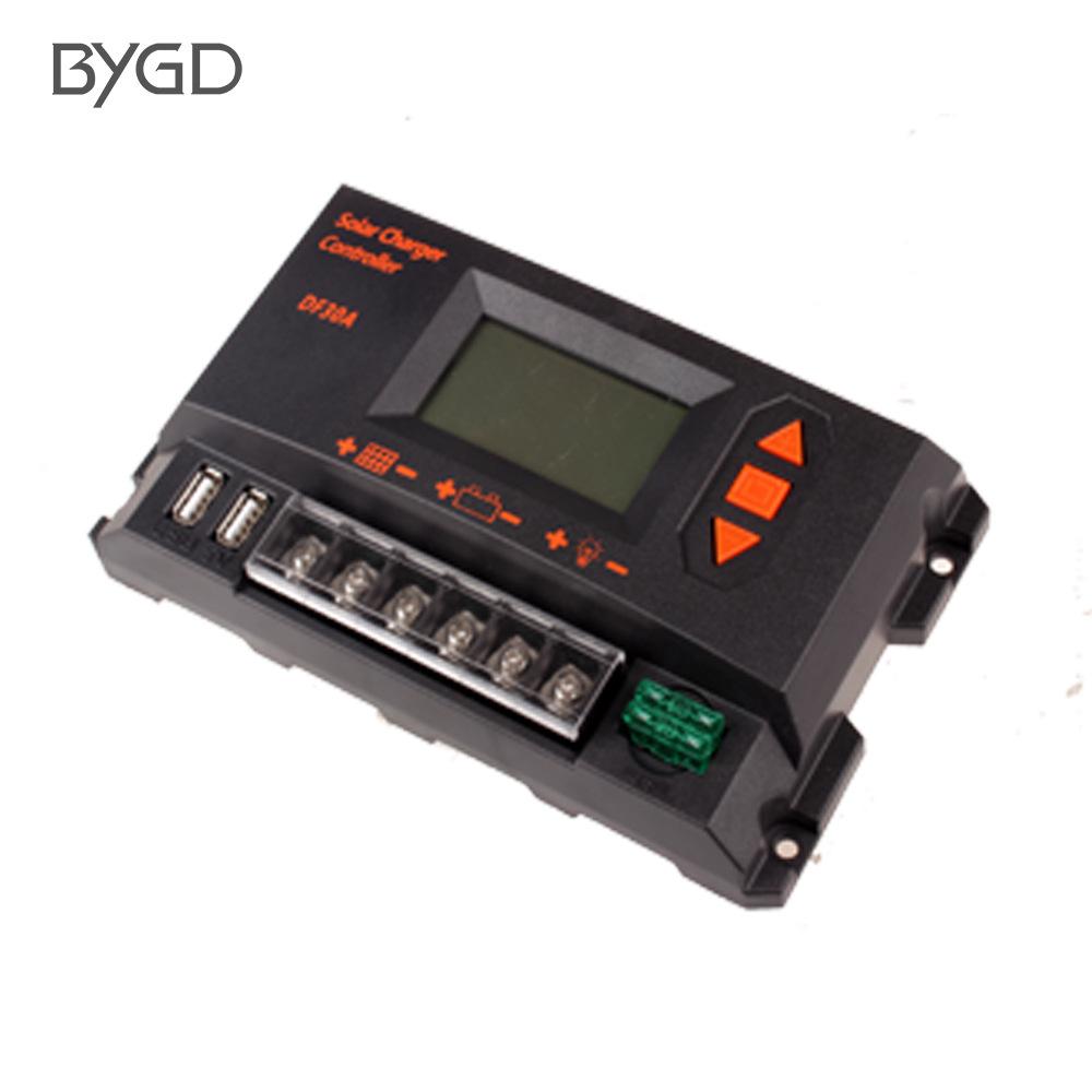 BYGD Mạch bo Bộ điều khiển đèn đường tự động nhận dạng 12V24V Bộ điều khiển sạc và xả năng lượng mặt