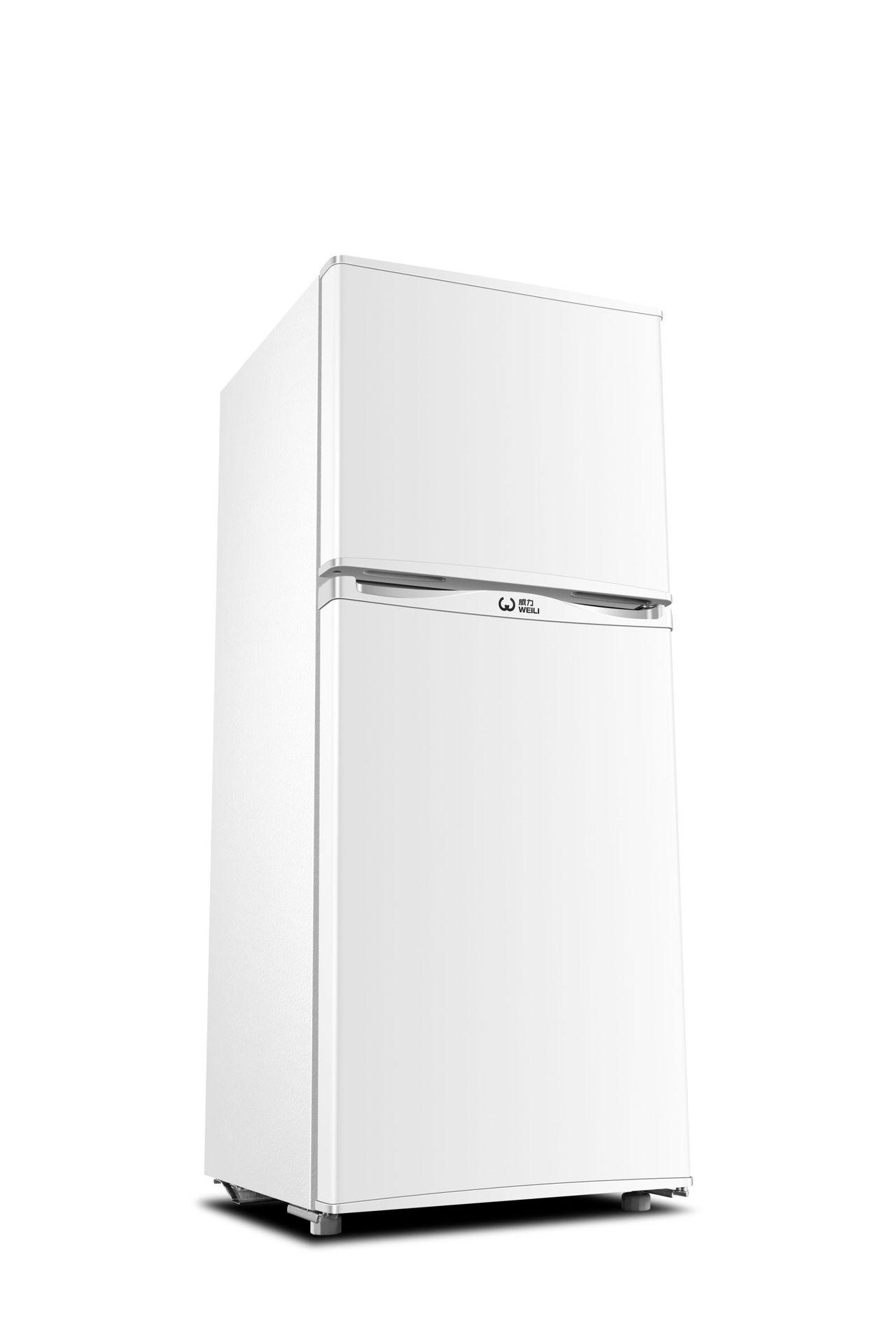 WEILI Tủ lạnh mini cửa đôi WEILI BCD-126W Tủ lạnh nhỏ gia dụng
