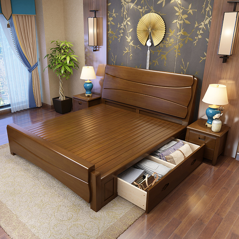 Nội Thất phòng ngủ : Giường Ngủ Bằng gỗ Sồi cỡ 1,5m -1,8 m .