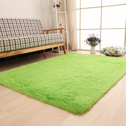 JIGNJING thảm lót Thảm lụa ngắn phòng khách thảm phòng ngủ đầy đủ thảm chống trượt thảm tùy chỉnh