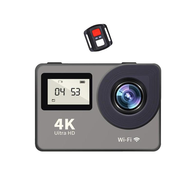 Camera thể thao 4K màn hình kép - DV camera mini hẹn giờ HD