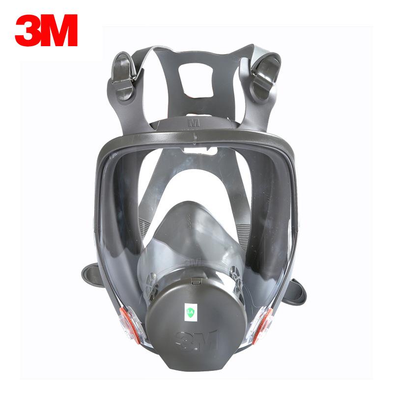 3M Mặt nạ phòng chống khí độc 3m6800 Chống vi rút toàn diện silicone phun sơn hữu cơ axit hơi độc bả