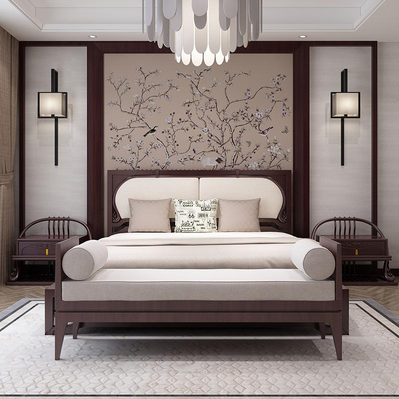 Thị trường nội thất : Bộ giường ngủ đôi bằng gỗ 1,8 m thiết kế sang trọng  .