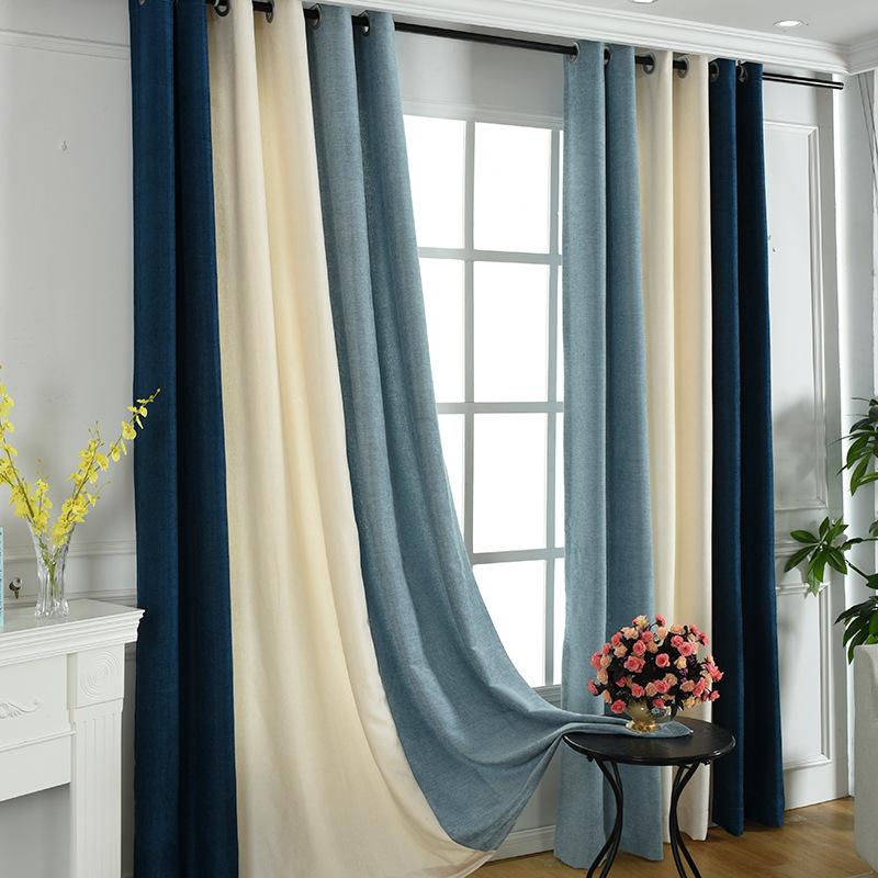 ZHENSHANG Thị trường trang trí nội thất Chenille vải lanh dày hoàn thành khâu cửa hàng nhà máy rèm c