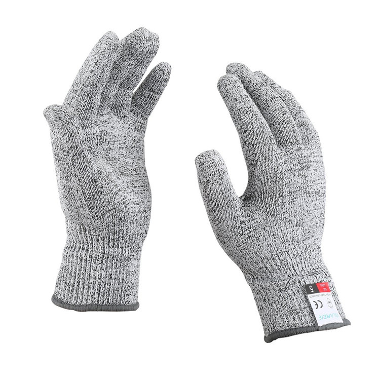 Lingli Găng tay chống cắt Nhà máy sản xuất trực tiếp lớp 5 Găng tay chống cắt HPPE chống cắt nhúng t