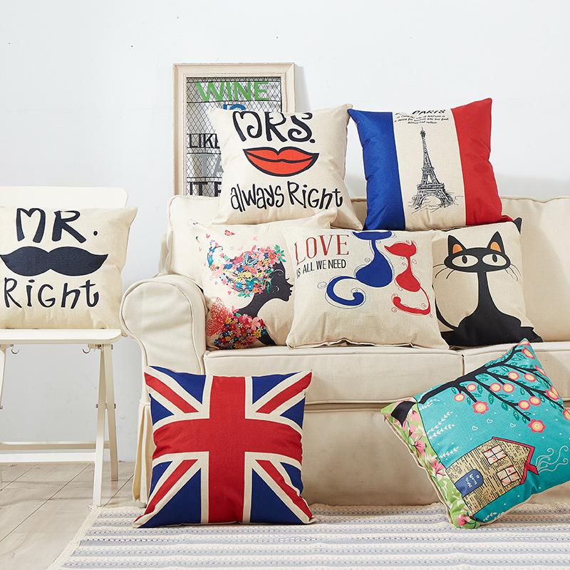 Gối Đệm Sofa sáng tạo với hình hoạt hình dễ thương .