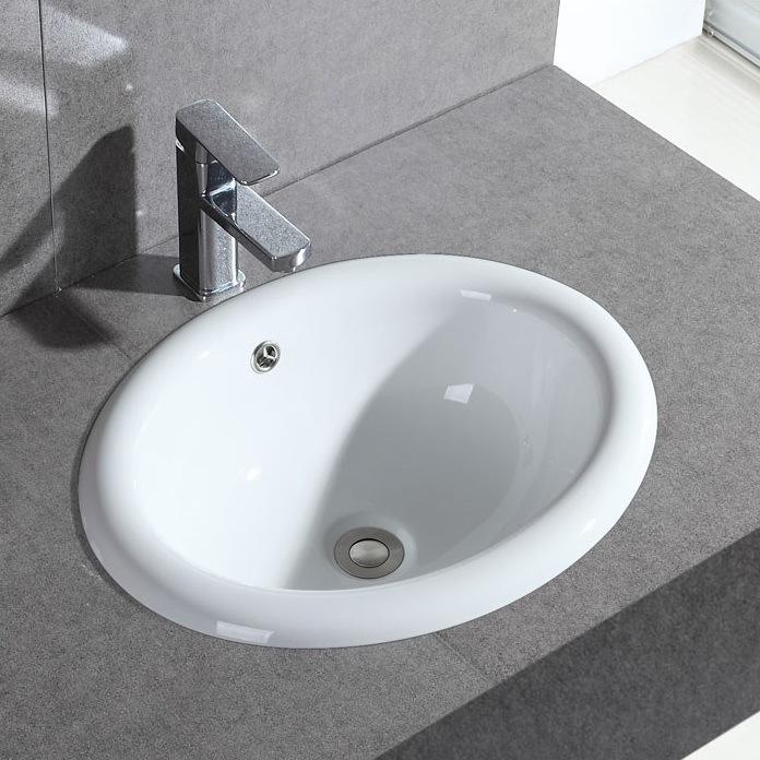 Nội Thất phòng Tắm : Bồn Rửa Mặt bằng Tấm gốm hình bầu dục .