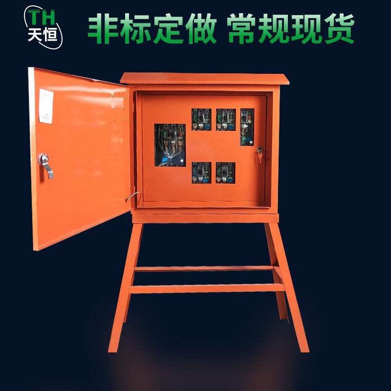 TIANHENG Tủ phân phối điện Hộp phân phối thứ cấp 100A bốn bể phụ bốn chiều ngoài trời không thấm nướ