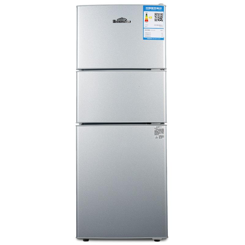 FAREASTERA Điện gia dụng chính hãng Tủ lạnh mini nhỏ gia dụng 75L lít nhỏ ba cửa mở thiết bị gia dụn