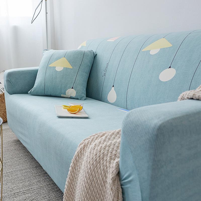 GULAI Vỏ bọc Sofa Châu Âu rắn màu đơn ba người đàn hồi phổ quát bọc sofa bọc sofa bao gồm tất cả bao