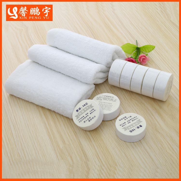 XINPENGYU Khăn nén Nhà sản xuất khăn nén bán buôn bông nén dùng một lần khăn tùy chỉnh biểu tượng kh