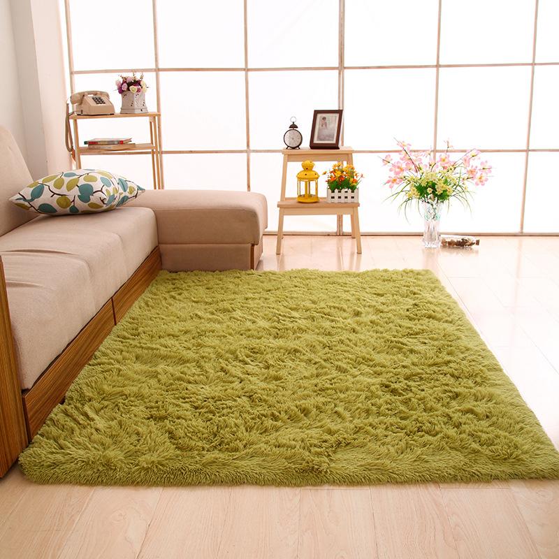 CHANGLONG thảm lót Nhà máy trực tiếp bán buôn thảm lụa hiện đại phòng khách hình chữ nhật bàn cà phê