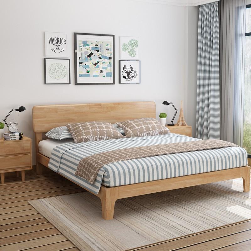 Nội Thất Phòng Ngủ : Giường Ngủ Bằng Gỗ Rắn , Thiết kế đơn giản và hiện đại.
