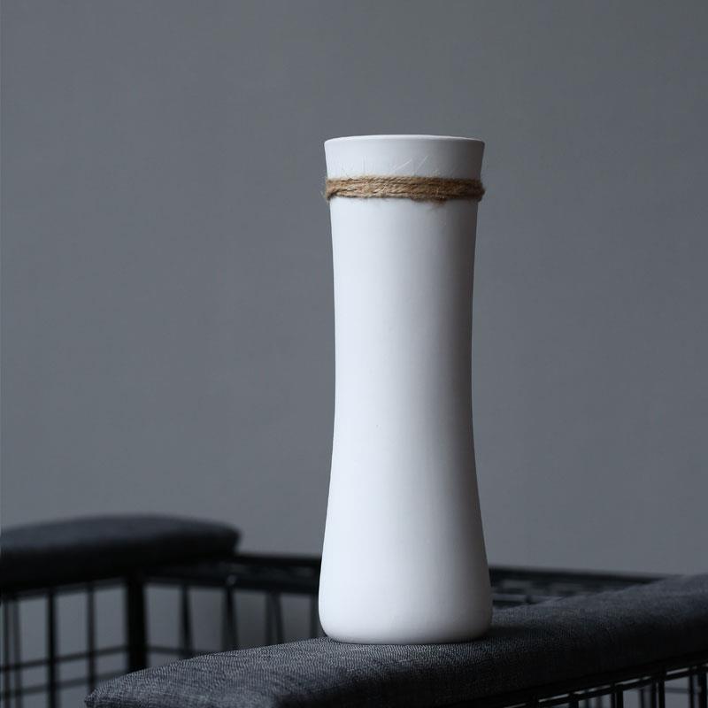Bình bông Bình bông OYO gốm sứ hoa khô trắng thời trang hoa tươi mát nhỏ bảo vệ khoảng dây gai bảo v