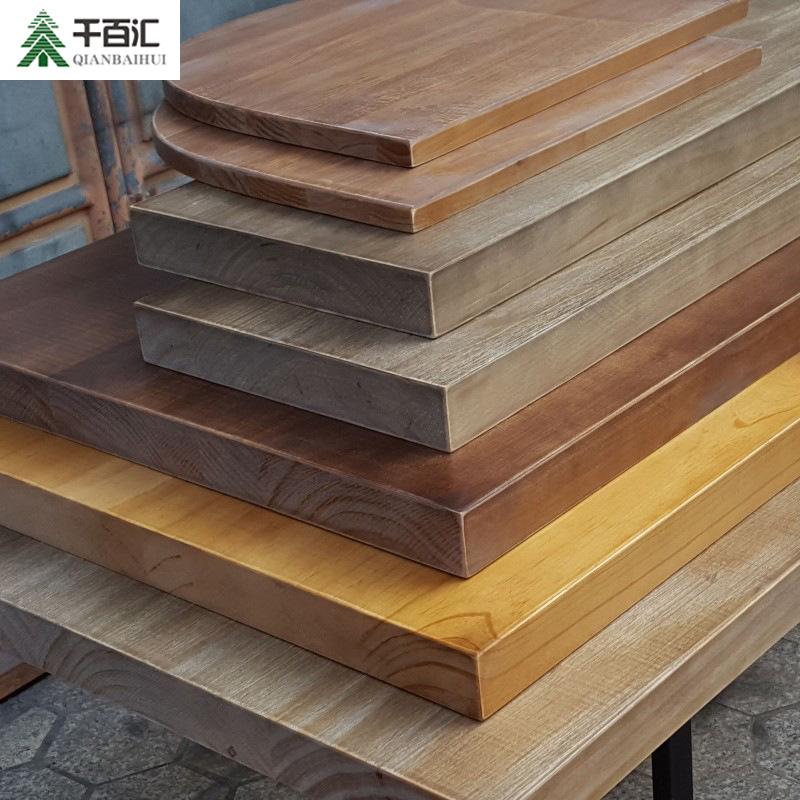 QIANBAIHUI Ván gỗ Gỗ tự nhiên cạnh gỗ tự nhiên ván gỗ rắn DIY văn phòng nhà hàng New Zealand tấm gỗ